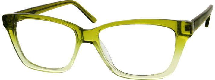8b93b4d927db Green Cat-Eye Glasses #303824 | Zenni Optical Eyeglasses ...