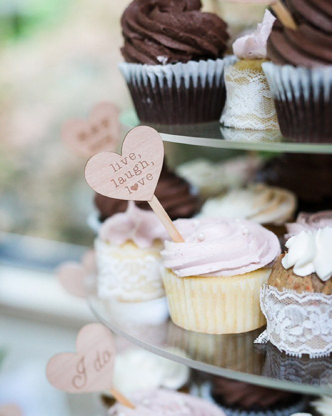 fabulous vancouver wedding // Adorable cupcakes with cute little signs in them = perfection.  I love these cupcakes by @delectableevents as photographed by @winkphotography  by @jodimarieevents  #vancouverwedding #vancouverwedding