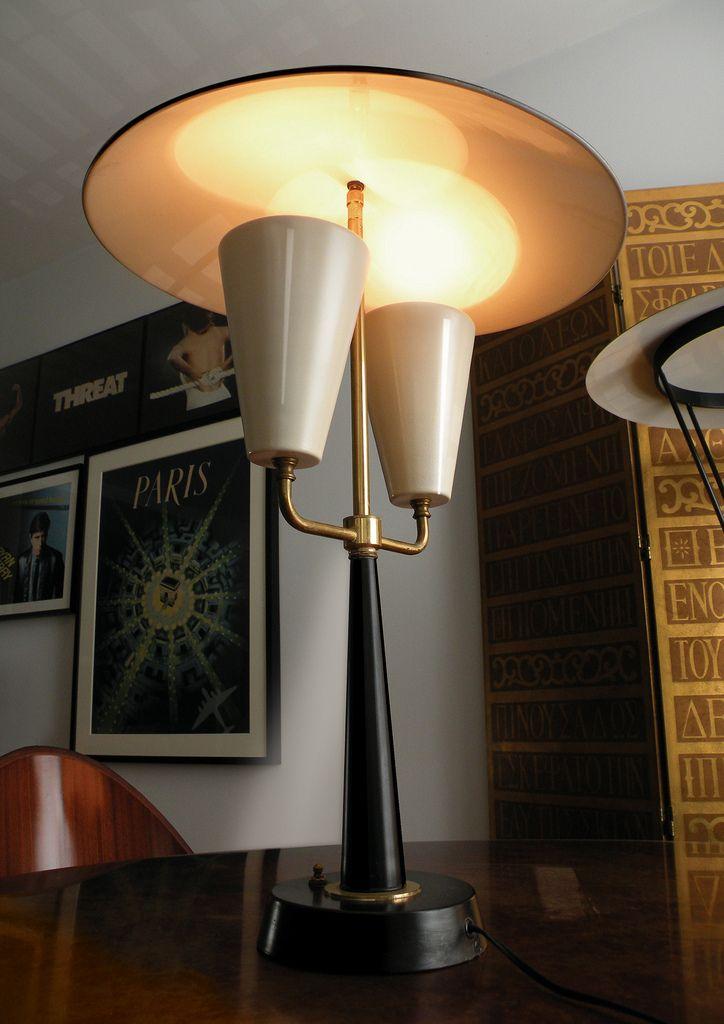 Large Thurston Lightolier 50 S Lamp Large Lamps Mid Century Decor Wall Lights