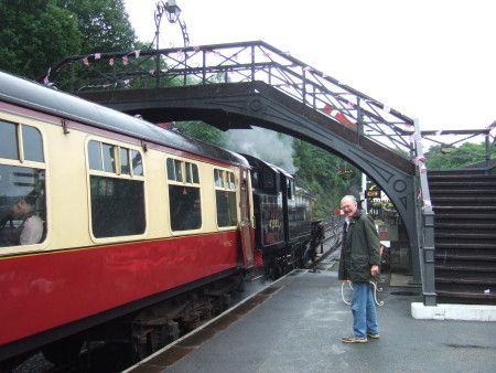 At Havethwaite Railway Station in 2012. This was used a a film location by Richard Pilbrow for the opening scenes of the movie SWALLOWS & AMAZONS (1974)