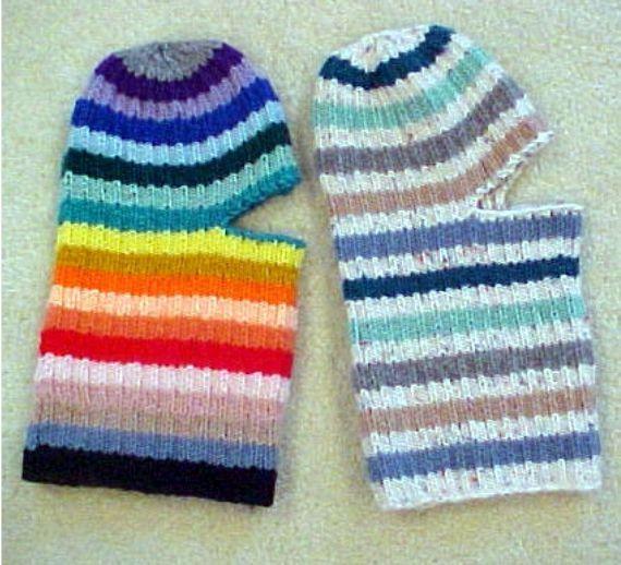 Easy Knit Ski Helmet Hats - - Knit ePattern #crochetformoney