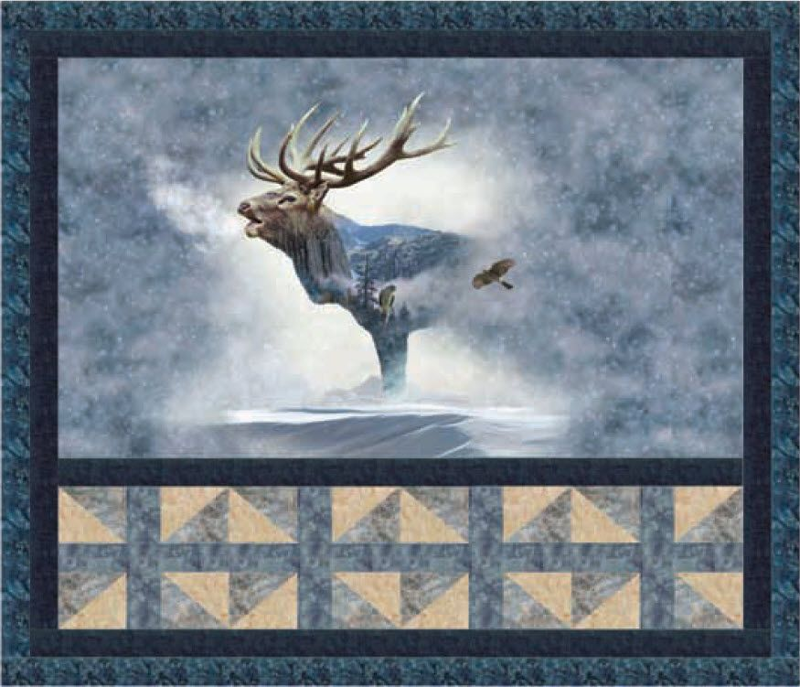 Call Of The Wild Elk Meadow Free Quilt Pattern Next