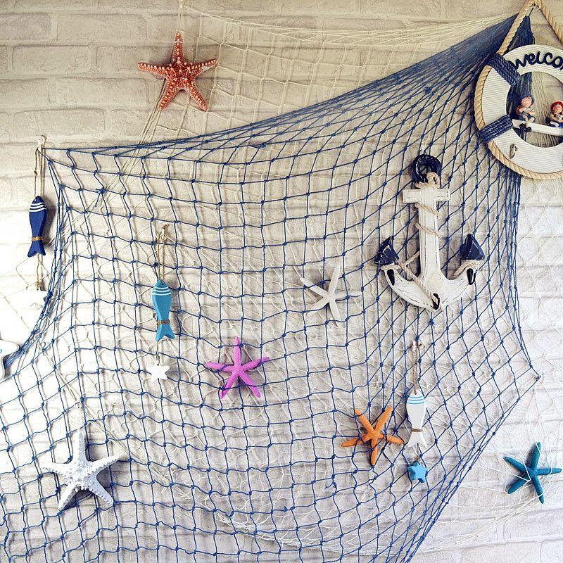 13 Ideas De Nautico Decoración De Unas Decoración Marinero Red De Pesca