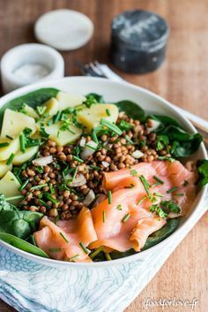 [Concours Reflets de France] Salade d'Épinards, Lentilles, Pommes de terre et Saumon Fumé - Food for...