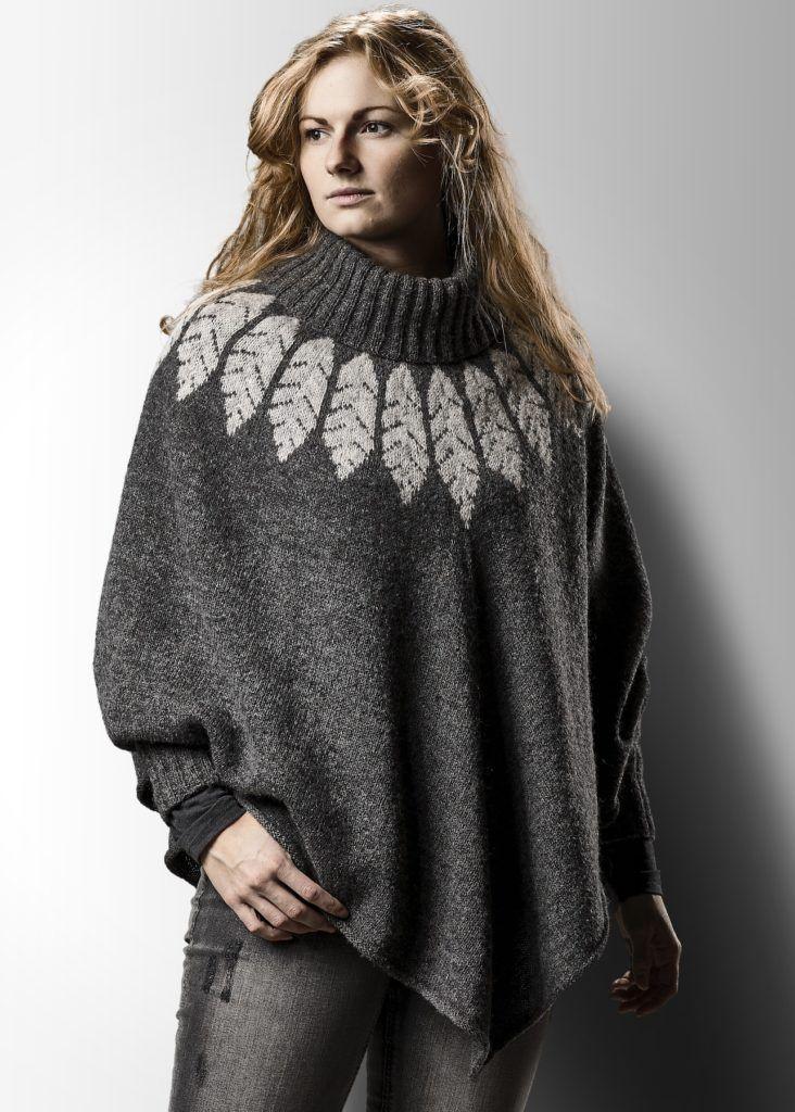 Eagle poncho - pdf opskrift | Designer Sanne Fjalland