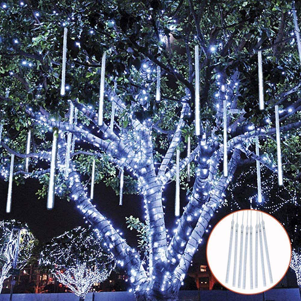 Topist Falling Rain Decoration Lights Waterproof Led Meteor Shower Lights 30cm 8 Tube 144 Le Christmas Lights Outdoor Christmas Lights Holiday Lights Outdoor