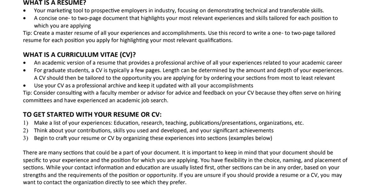 CSE Graduate Resume & C.V. Guide Cv guide, Resume, Resume cv