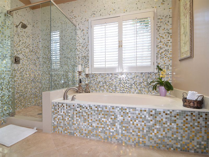 24 Mosaic Bathroom Ideas Designs: Mosaic Bathroom Tile Ideas