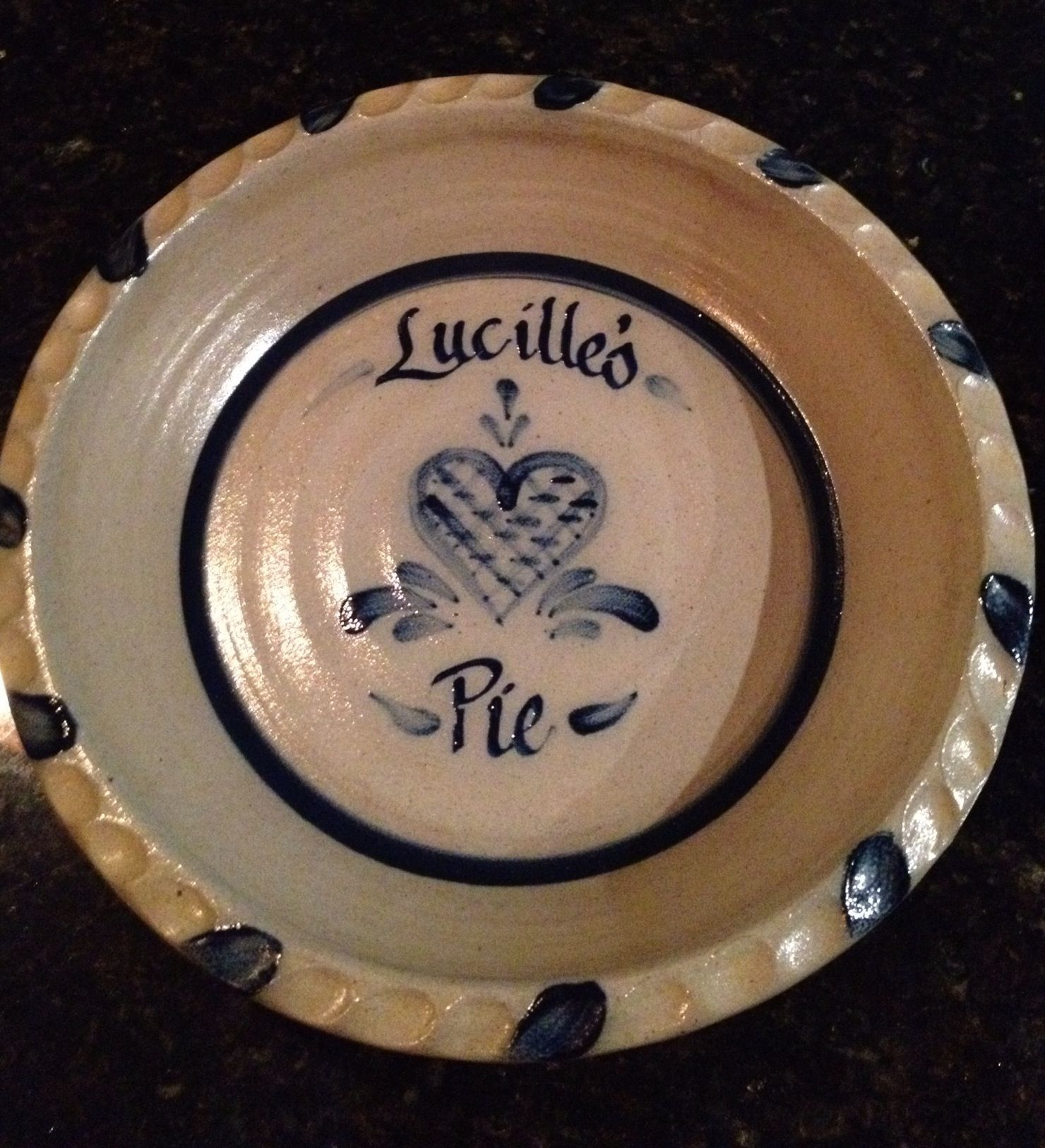 Rowe Pottery custom pie plate (For my MOM!) & Rowe Pottery custom pie plate (For my MOM!) | Pie | Pinterest | My ...