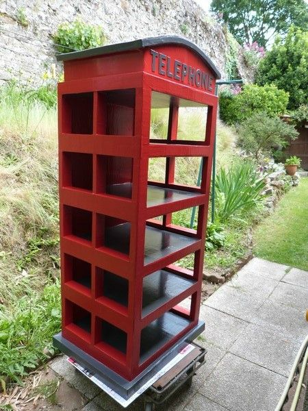 Cabine Telephonique Anglaise En Carton Exoticcreation Mobilier De Salon Deco Chambre Londres Meubles En Carton