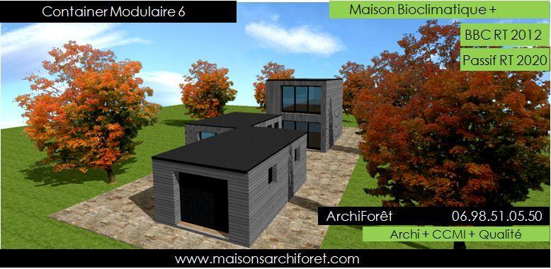 Patio 1 Maison avec patio d u0027architecte constructeur bois bardage