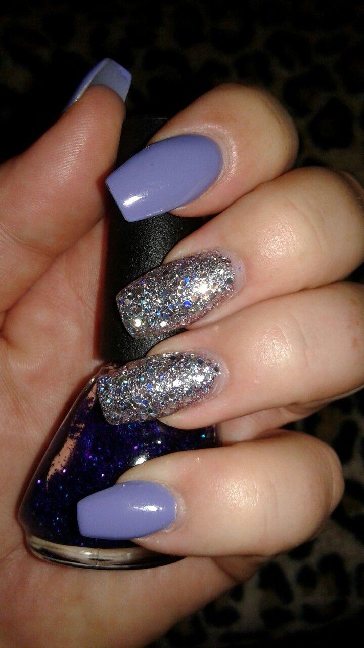 Kiara Sky I Like You a Lily with silver sparkle by Dnd polish Purple ...