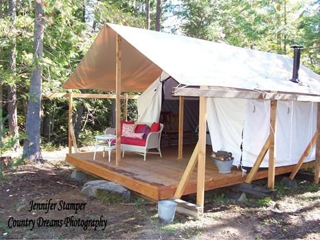 Huckleberry Tent And Breakfast - Canvas Tent Cabin Vacation Rentals Clark Fork ID - Lodging & Vacation Cottage Tent | Tent Cabin Rentals at Huckleberry Tent and ...