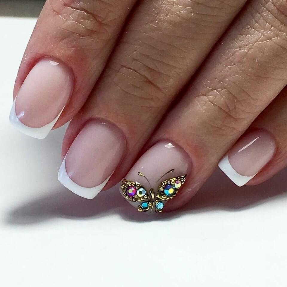 Nail Art 4725 Butterfly Nail Art French Nail Art Manicure