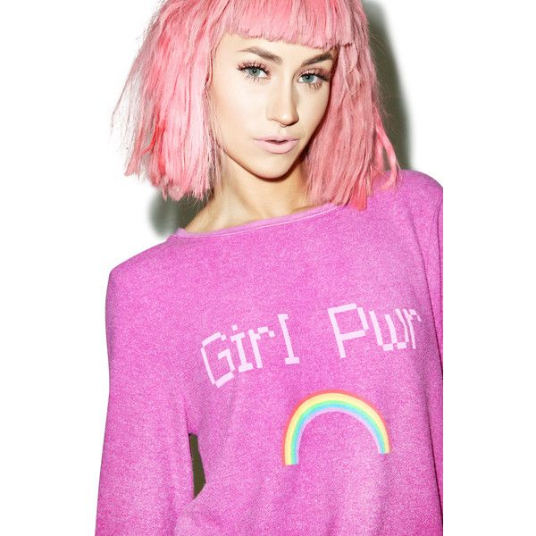 Wildfox Couture Girl Power Baggy Beach Jumper ($54) Liked