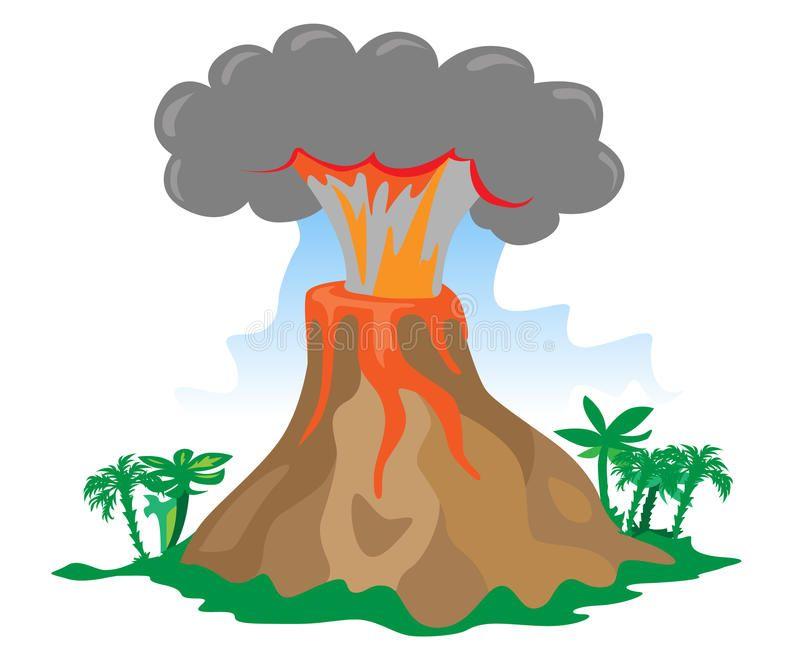 Clipart Volcano