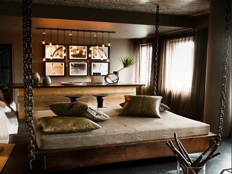 room suspended bed ideas