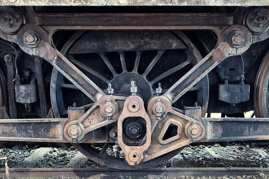 Locomotive wheel piston rod by LucaMaccarrone