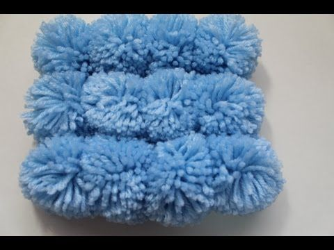 Fun and Easy pom pom rug. I\'m thinking this might make a really cute ...