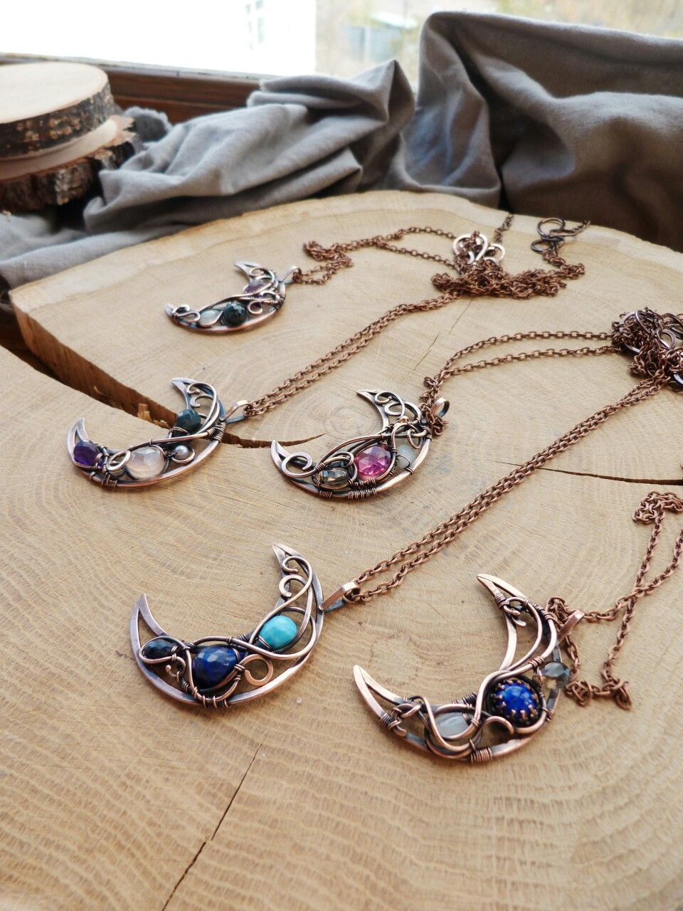 Moon necklaces collection by Ursula Jewelry.