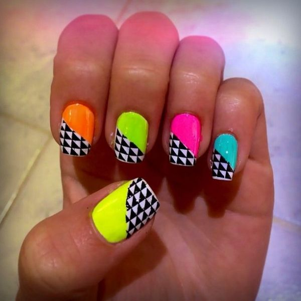 Awesome 80s Nail Art That Will Take You Back To Another Era 80s Nails 1980s Nails Nails For Kids