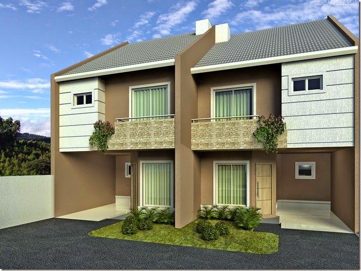 Lindos modelos de fachadas para sobrados maison - Ceramica para fachadas casas ...