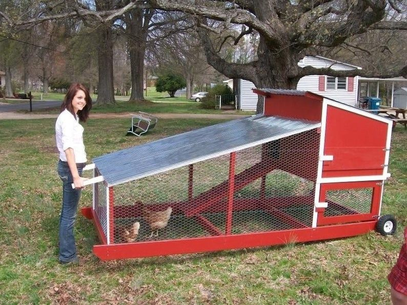 "DIY Movable Chicken Coop Plans PDF 41""x94"" Backyard Chicken Hutch"