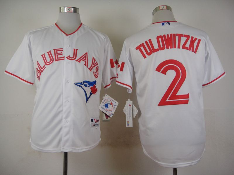 MLB Toronto Blue Jays 2 Troy Tulowitzki White 2015 Jerseys