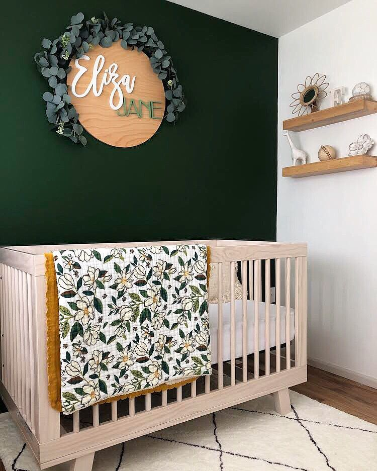 24 Round Name Sign Nursery Baby Room Baby Room Decor Dreamy