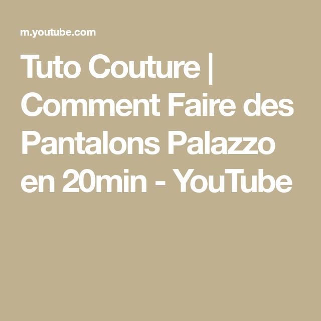 Photo of Tuto Couture | Comment Faire des Pantalons Palazzo en 20min – YouTube,  #20min #Comment #cout…