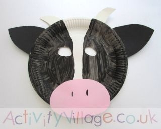 This gorgeous cow craft is simple to make using a paper plate as its base. & This gorgeous cow craft is simple to make using a paper plate as its ...