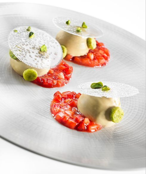 Recipe - Strawberry Pistachio Plated Dessert   Valrhona, Let's Imagine the Best of Chocolate