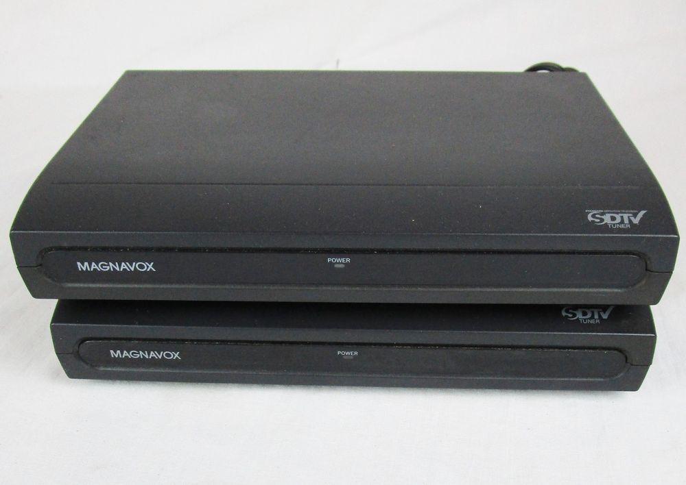 magnavox tb110mw9a dtv digital to analog tv converter box lot of 2 rh pinterest com Magnavox Digital Converter Box LostRemote Magnavox Converter Box TB110MW9 Manual
