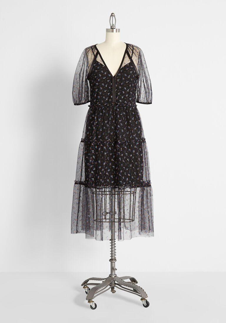 Mesh to Impress Midi Dress in XL
