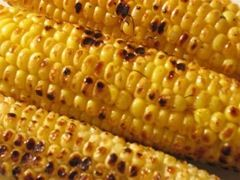 Grilled Corn on the Cob - made some with garlic and curry powder. So good!