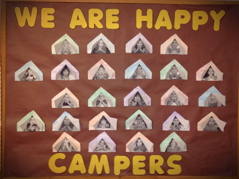 Camping bulletin board | Camping bulletin boards, Teaching ...
