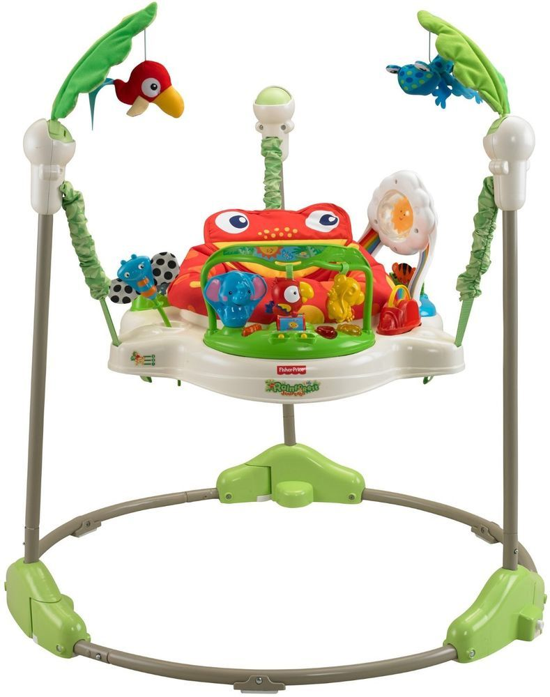 fa20dcbbf5ea Fisher-Price Rainforest Jumperoo Bouncer Rotating Seat Baby Toddler ...