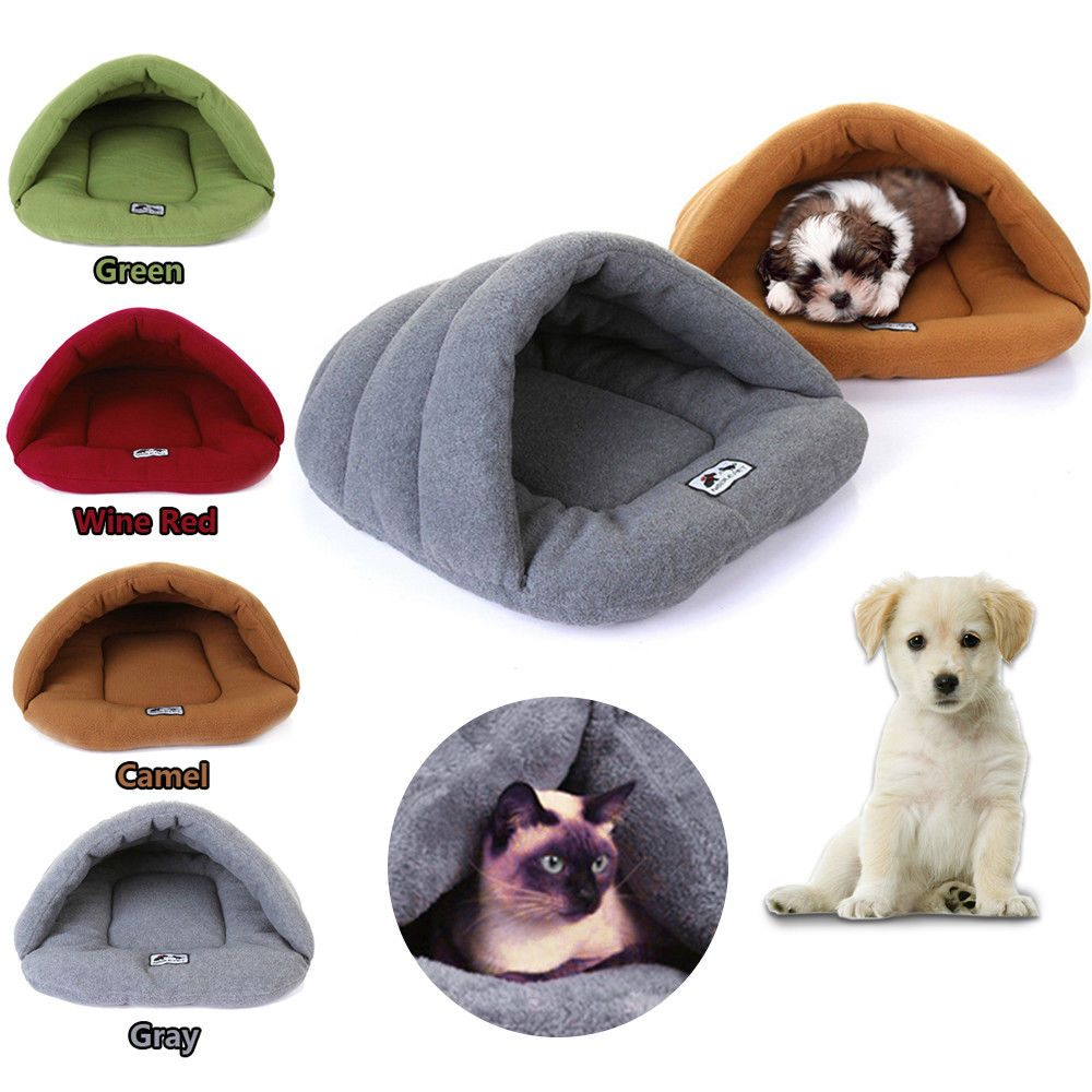 pet cat dog nest bed puppy soft warm cave house winter sleeping bag rh in pinterest com