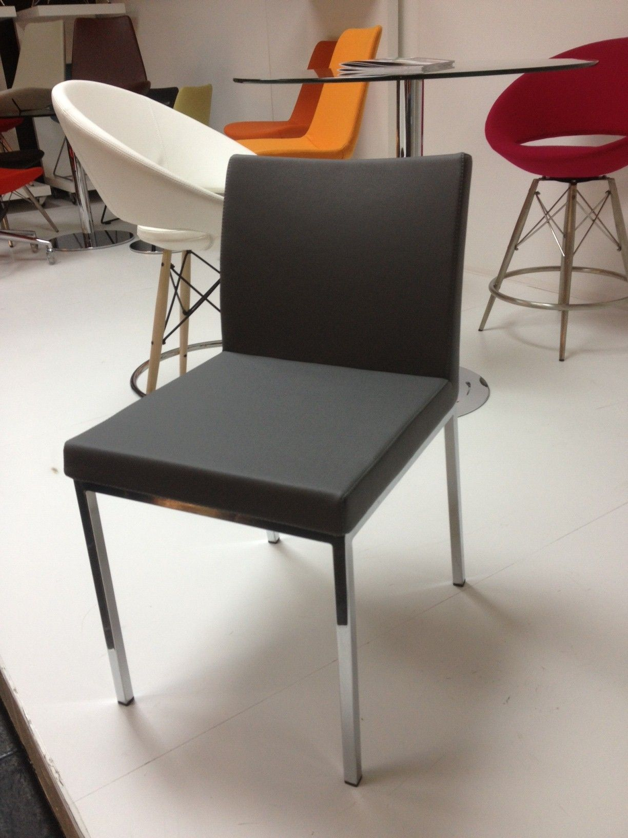 Contemporary Gray Dining Room Chair