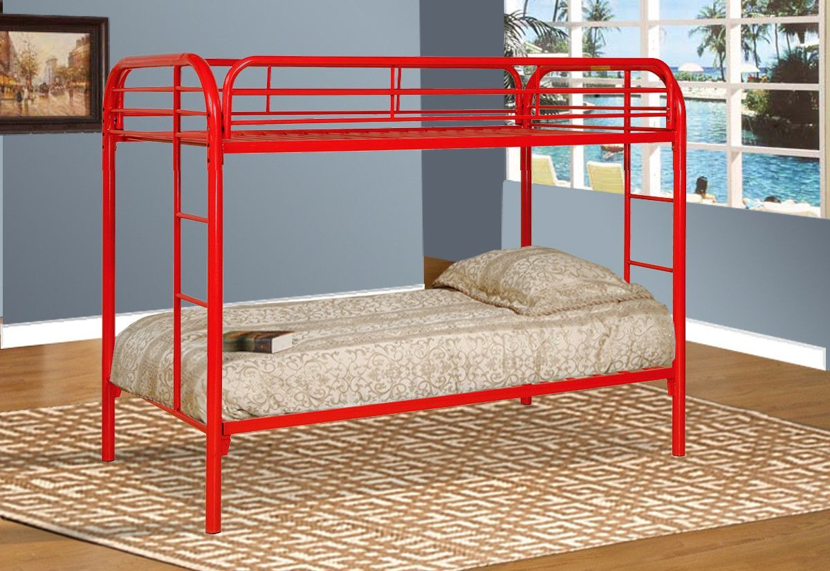 Bunkbed twin/twin red BE4501RD Twin bunk beds, Bunk