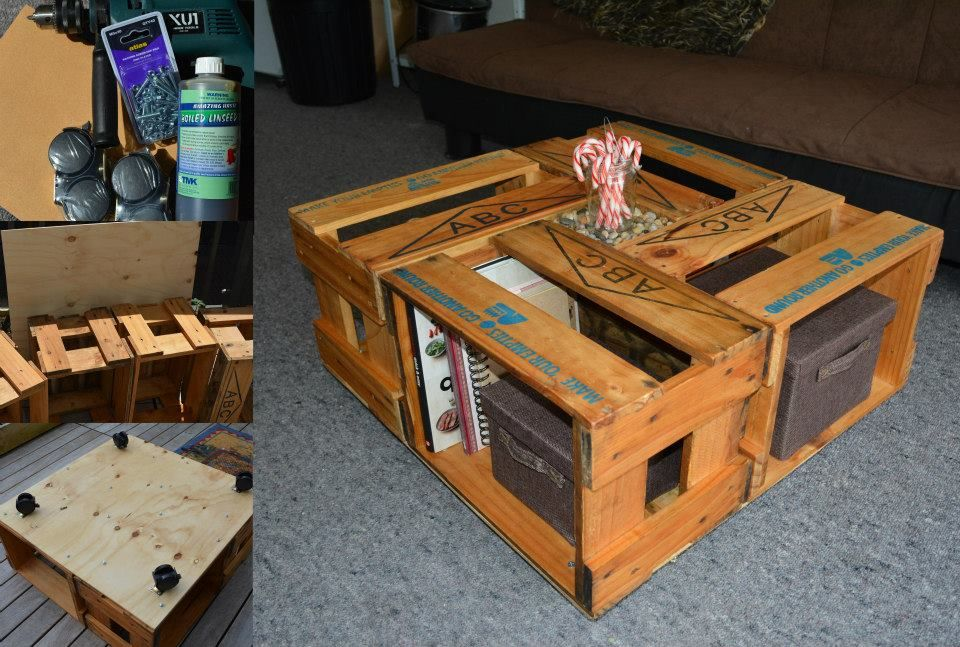 Pin By Ali Alaradi On Things I Ve Made Beer Crate Crate Table Crate Coffee Table
