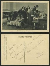 Korea Old Postcard WONSAN Native Korean Boys Clean Washing Dishes After The Meal