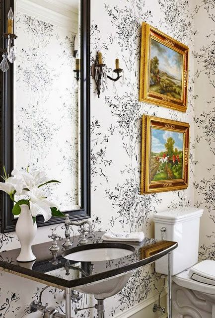 South Shore Decorating Blog Stylish Bathroom Black Bathroom Trendy Bathroom