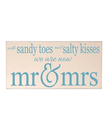 Look what I found on #zulily! Cream 'Mr & Mrs' Wall Sign by Vinyl Crafts #zulilyfinds