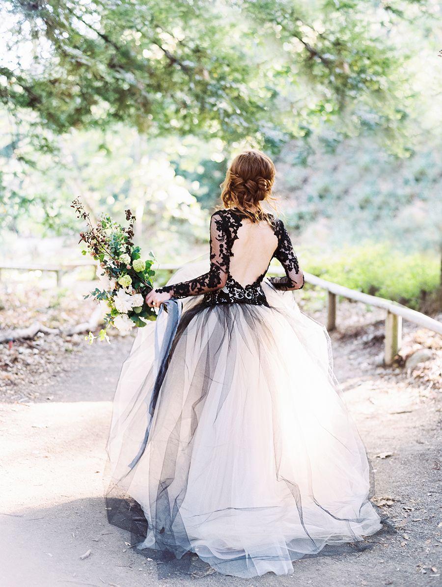 Edgy Black Lace Wedding Inspiration | Pinterest | Brautkleid ...