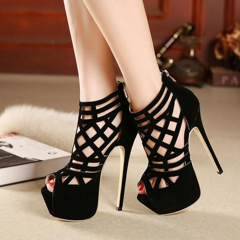 c7cb19ff037a Korean Summer Platform High-heels leather Sexy killer Shoe SD00122 -  SYNDROME - Cute Kawaii Harajuku Street Fashion Store
