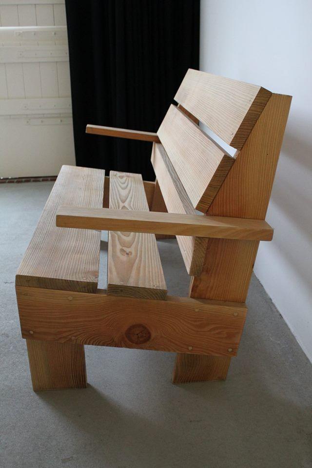 rietveld tuinbank sillones Pinterest Bancos, Madera y Sillas - como hacer bancas de madera para jardin