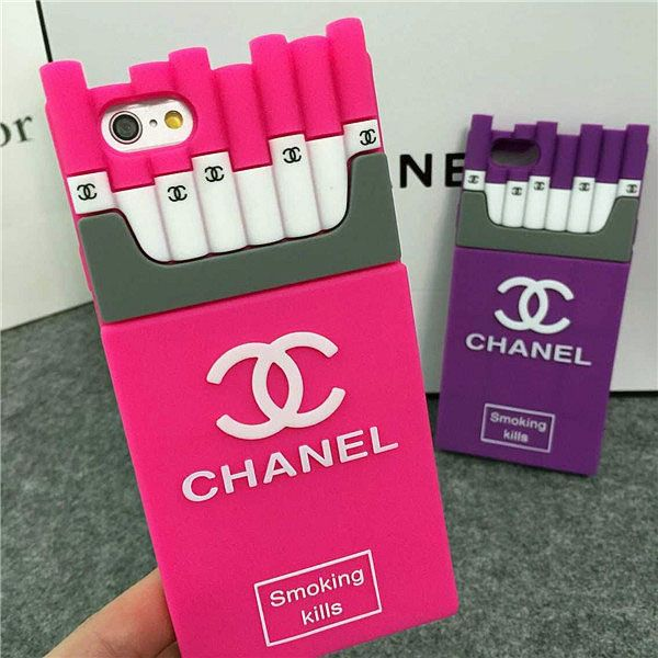 Chanel iPhone8 7 6S 6 Plus Case Smoking Kills Rose  74954865630