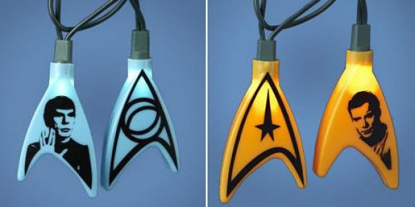 If only I had these lights on my Christmas tree. - Star Trek Christmas Light Set Star Trekkin' Pinterest Star