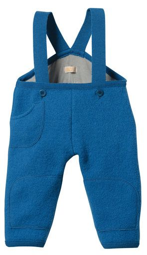 8cd07c7ff64a Organic Boiled Merino Wool Trousers in Blue from Disana - Made in ...